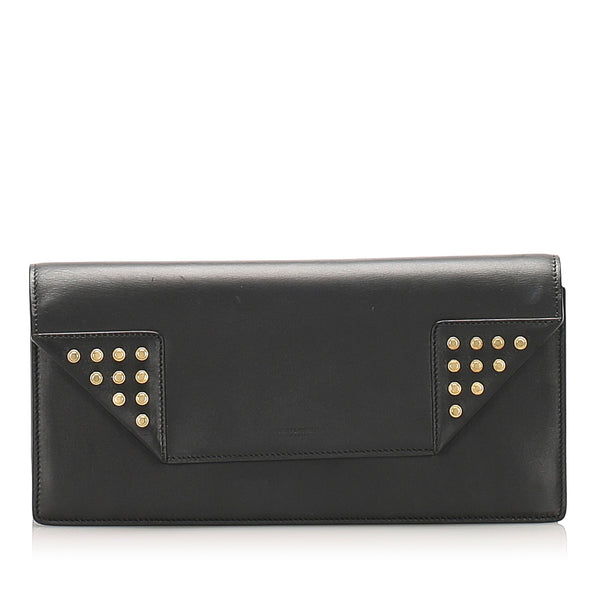 Black YSL Betty Leather Clutch Bag