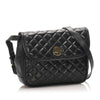 Black YSL Quilted Leather Crossbody Bag