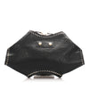 Black Alexander McQueen De Manta Studded Leather Clutch Bag