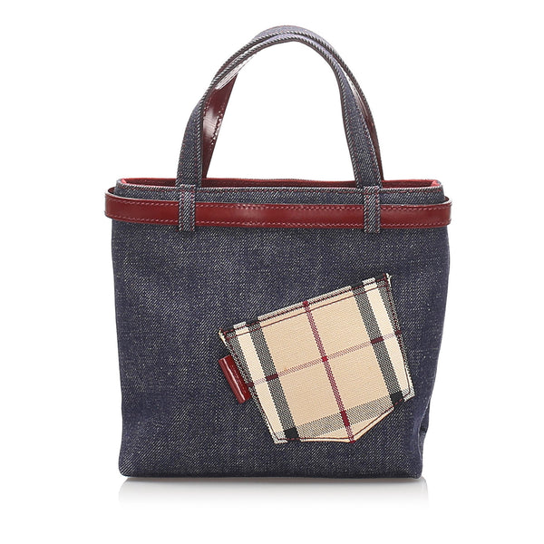 Blue Burberry Denim Handbag Bag