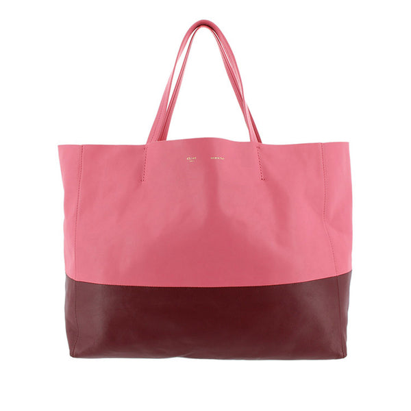 Pink Celine Horizontal Cabas Leather Tote Bag