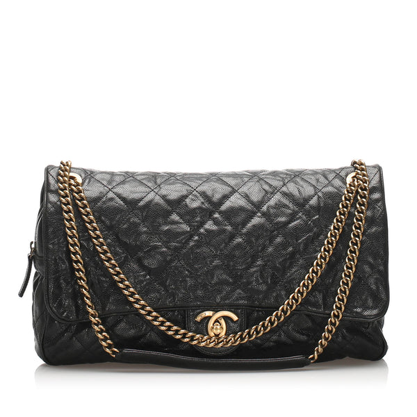 Black Chanel CC Timeless Caviar Shoulder Bag
