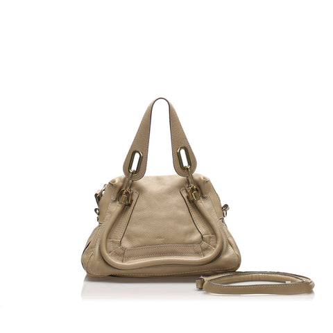 Gray Chloe Small Paraty Leather Satchel Bag