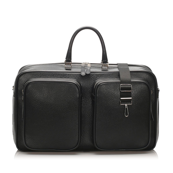 Black Dior Leather Travel Bag