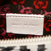 White Dior Cannage Leather Clutch Bag