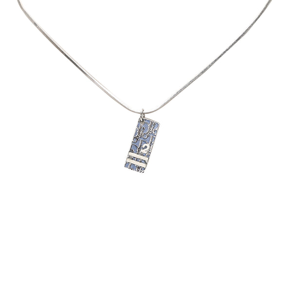 Blue Dior Dior Oblique Trotter Pendant Necklace