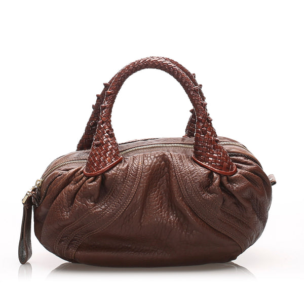 Brown Fendi Mini Spy Leather Handbag Bag