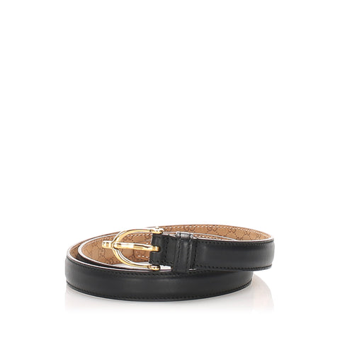 Black Gucci Leather Belt