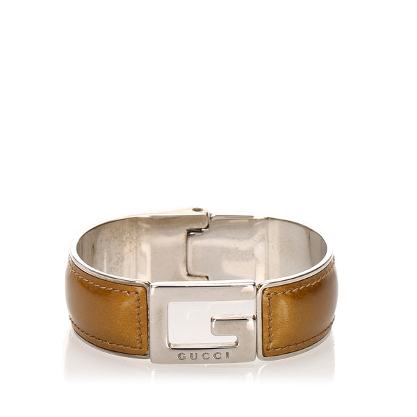 Brown Gucci Leather Bracelet