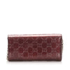 Red Gucci Guccissima Wallet on Chain