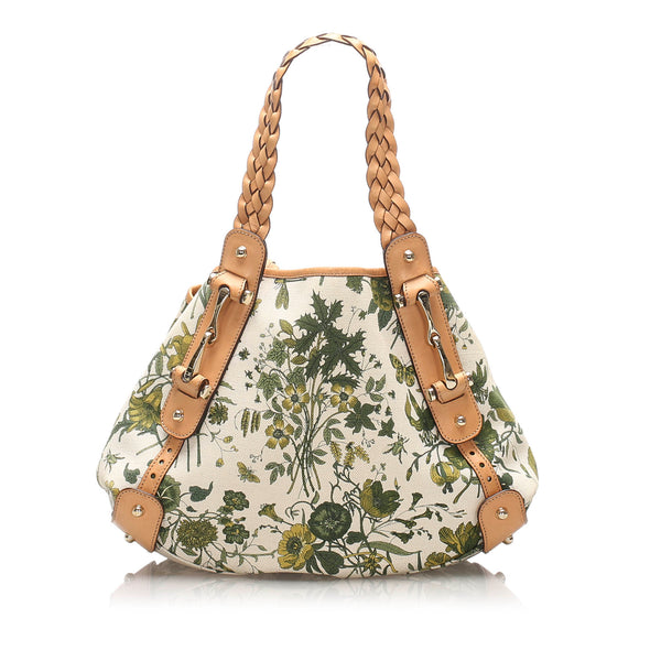 White Gucci Flora Pelham Tote Bag