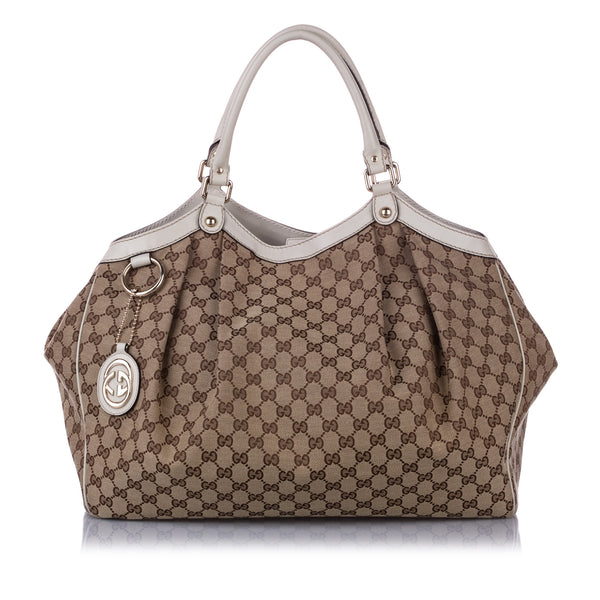 Brown Gucci GG Canvas Sukey Tote Bag