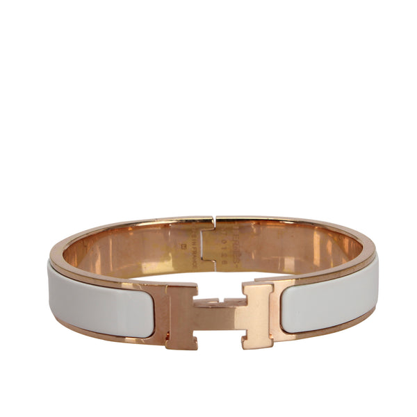 Gold Hermes Clic H Bangle