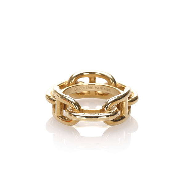 Gold Hermes Regate Scarf Ring
