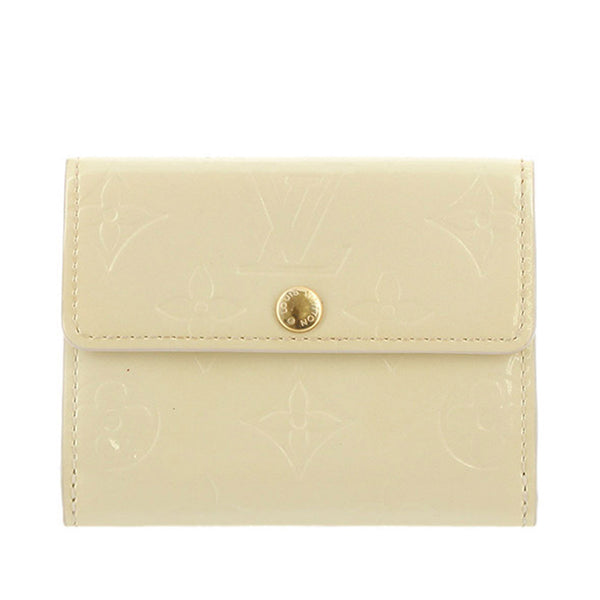 White Louis Vuitton Vernis Ludlow Coin Pouch