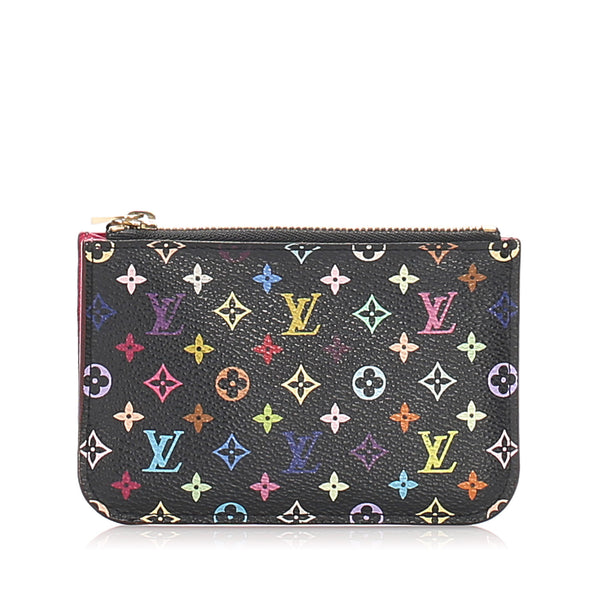 Black Louis Vuitton Monogram Multicolore Pochette Cles