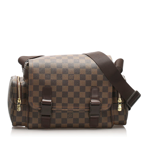 Brown Louis Vuitton Damier Ebene Reporter Melville Bag