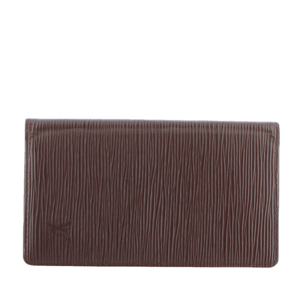 Brown Louis Vuitton Epi Agenda Vertical