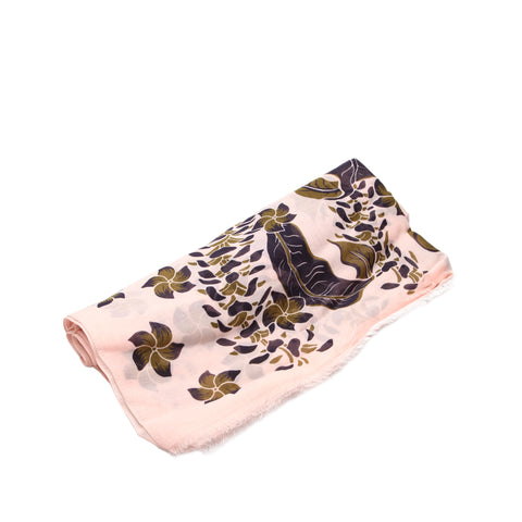 Pink Louis Vuitton Printed Cotton Scarf