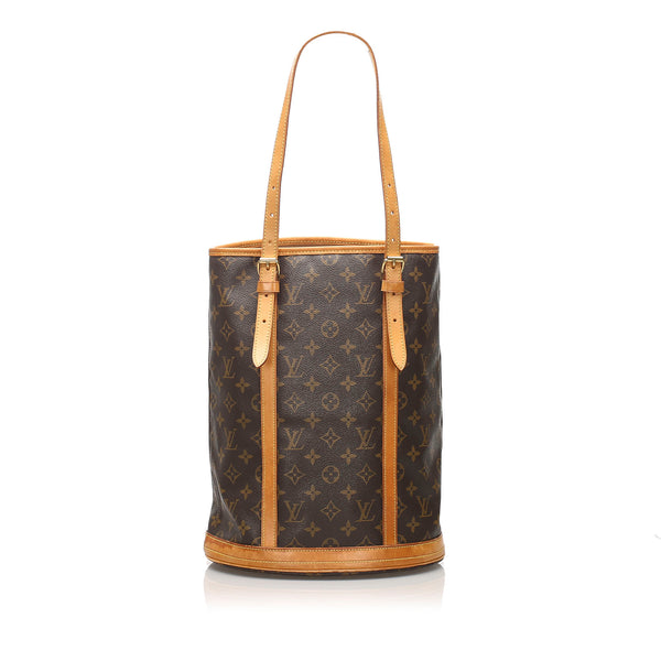 Brown Louis Vuitton Monogram Bucket GM Bag