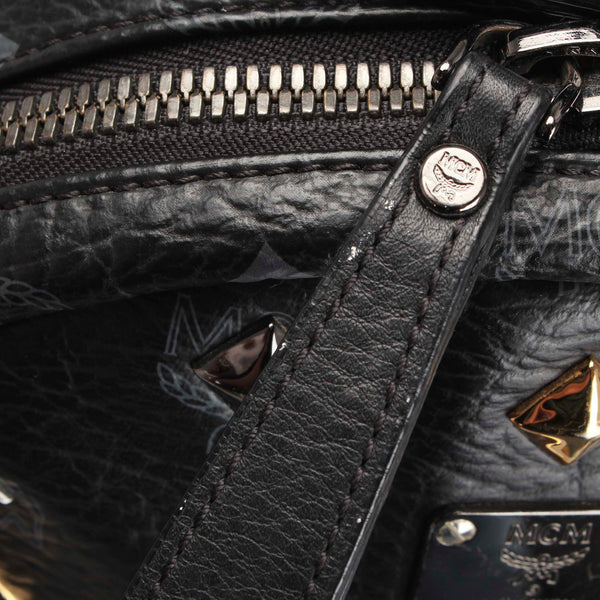 Black MCM Visetos Stark Backpack Bag