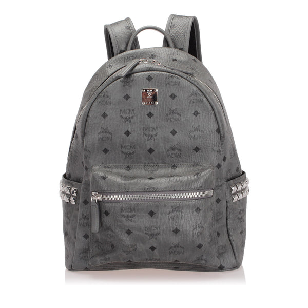 Gray MCM Visetos Stark Backpack Bag