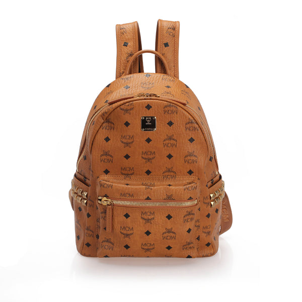 Brown MCM Visetos Stark Backpack Bag