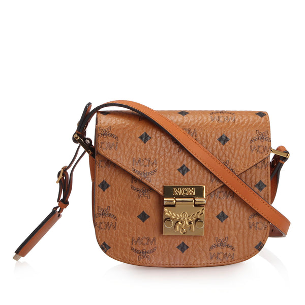 Brown MCM Mini Visetos Patricia Crossbody Bag
