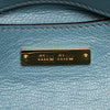 Blue Miu Miu Vitello Shine Satchel Bag