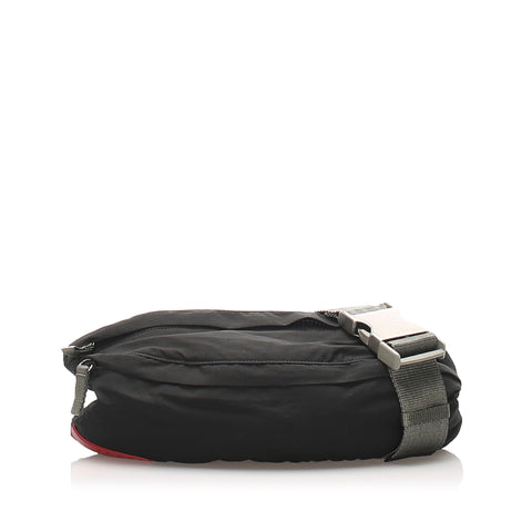 Black Prada Tessuto Belt Bag