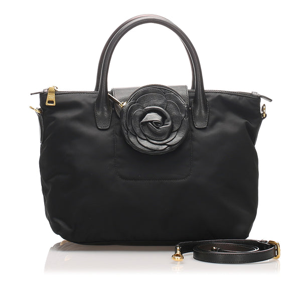 Black Prada Tessuto Satchel Bag
