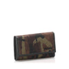 Brown Prada Tessuto Camouflage Key Holder