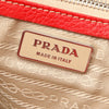 Red Prada Leather Shoulder Bag