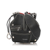 Black Alexander McQueen Biker Bucket Leather Crossbody Bag