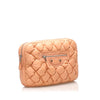Peach Balenciaga Matelasse Chevre Clutch GM Bag
