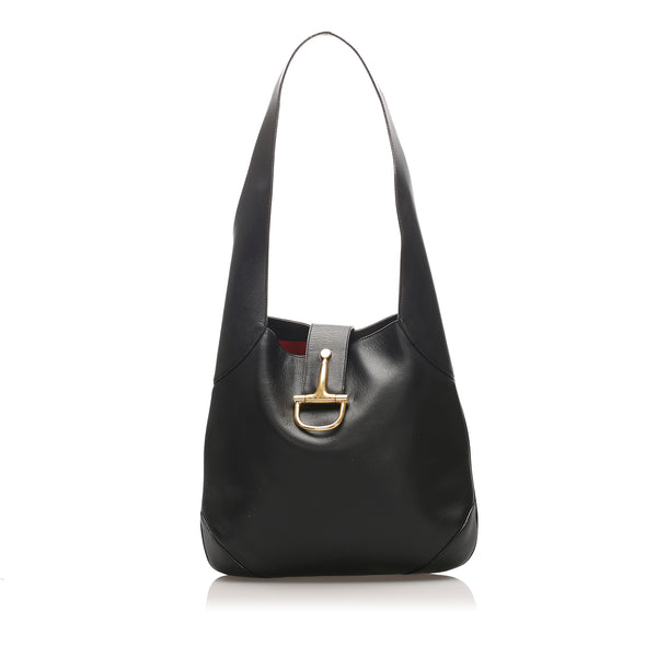 Black Celine Leather Shoulder Bag