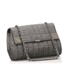 Gray Chanel Choco Bar Denim Flap Bag