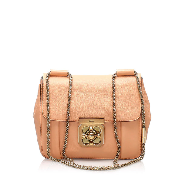 Pink Chloe Elsie Leather Crossbody Bag