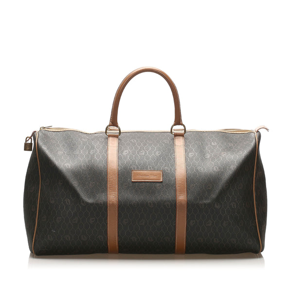 Black Dior Honeycomb Travel Bag