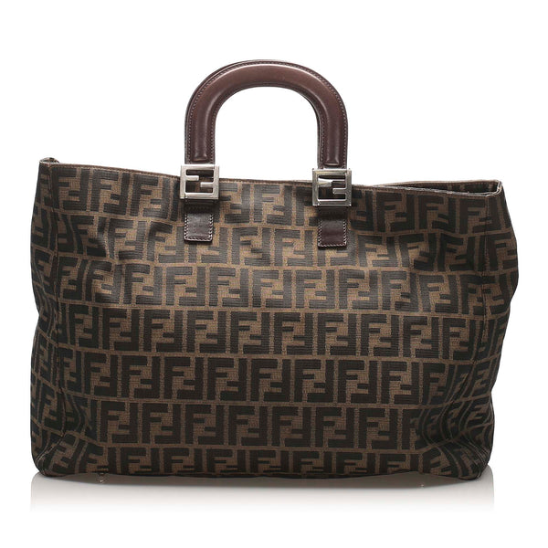 Brown Fendi Zucca Canvas Handbag Bag