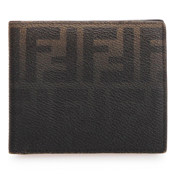Black Fendi Zucca Coated Canvas Small Wallet
