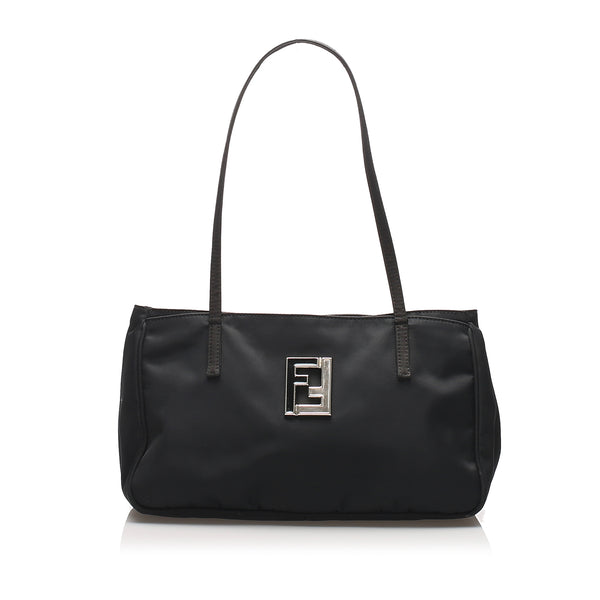 Black Fendi Nylon Tote Bag