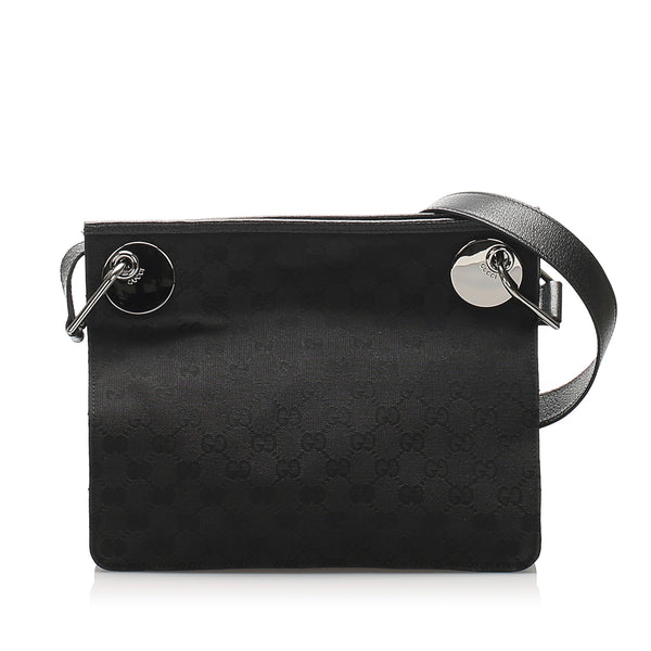 Black Gucci GG Canvas Eclipse Crossbody Bag