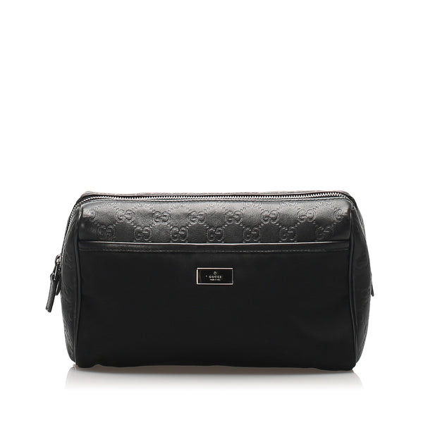 Black Gucci Nylon Pouch
