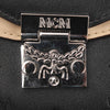 Black MCM Visetos Leather Wallet On Chain