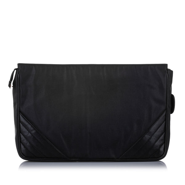 Black Chanel CC Canvas Clutch Bag
