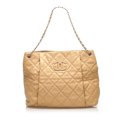 Brown Chanel CC Tote Bag
