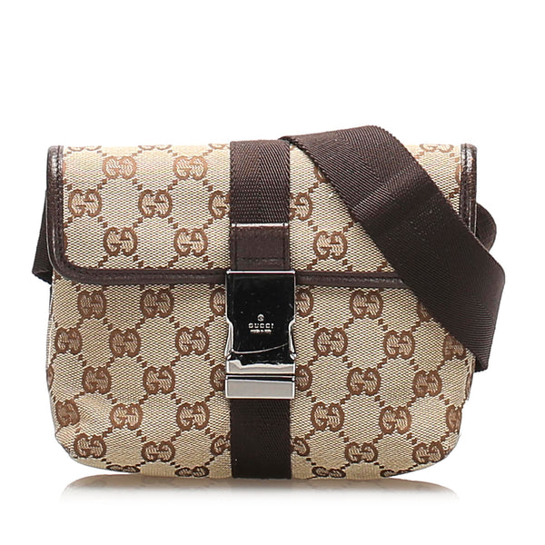 Brown Gucci GG Canvas Belt Bag