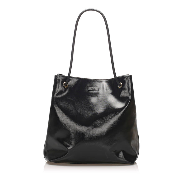 Black Gucci Patent Leather Gifford Tote Bag