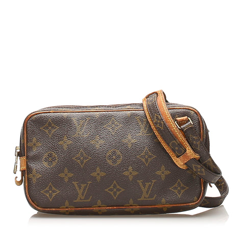 Brown Louis Vuitton Monogram Marly Bandouliere Bag